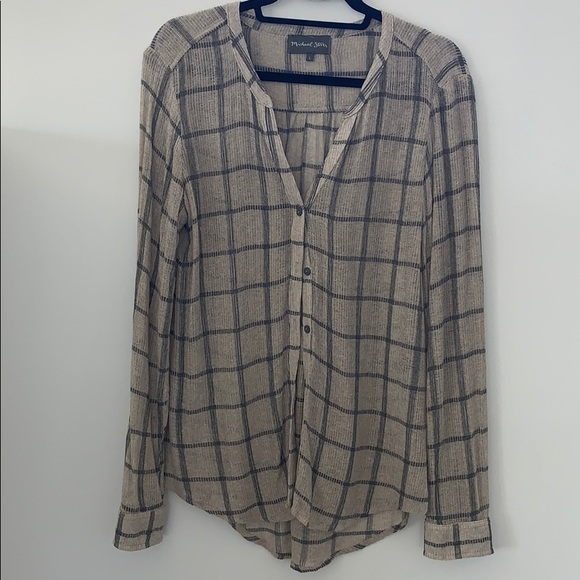 Michael Stars Tops - Michael stars grey and taupe button down